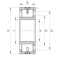 FAG محامل أسطوانية - LSL192356-TB
