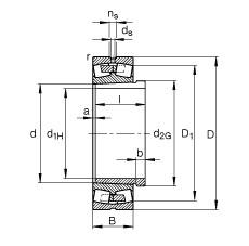FAG محامل كروية - 23964-K-MB + AH3964G-H