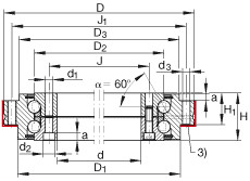 FAG محوري الزاوي الاتصال الكرات - ZKLDF325