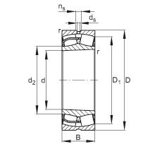 FAG محامل كروية - 24164-BE-XL-K30