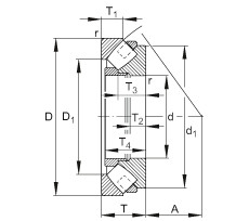 FAG محوري كروية محامل - 29260-E1-MB