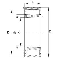 FAG محامل حلقية - C4160-XL-K30-M1B