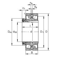 FAG محامل كروية - 23964-K-MB + H3964-HG