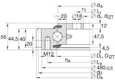 FAG أربعة محامل الاتصال نقطة - VLA200414-N