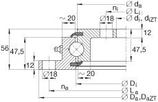 FAG أربعة محامل الاتصال نقطة - VLU200414