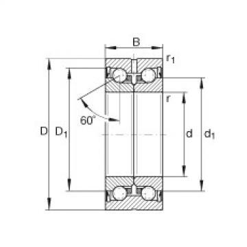 FAG Axial-Schrägkugellager - ZKLN1034-2RS-XL