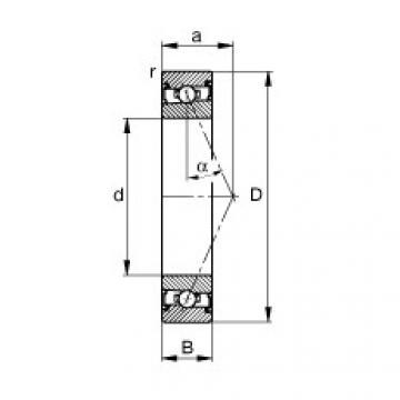 FAG Spindellager - HSS71900-E-T-P4S