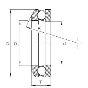 FAG Axial-Rillenkugellager - 4100