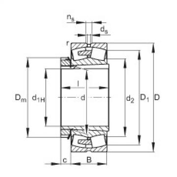 FAG محامل كروية - 22260-BEA-XL-K-MB1 + H3160